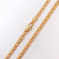 """Цепочка Xuping Jewelry 60 см х 4 мм """"Ромбик"""" с насечками, медицинское золото, позолота 18К. А/В 2738"""
