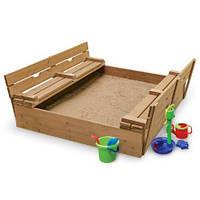 Детская песочница с крышкой лавками от производителя