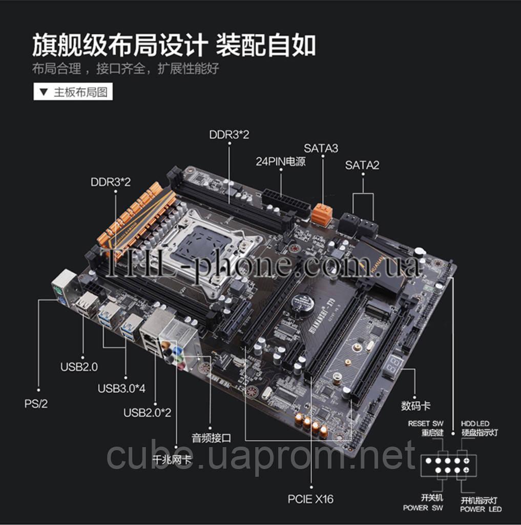 Комплект Xeon e5 2680 V2, HuananZHI X79 Plus Пам'ять 16 Гб Кулер Lga 2011 LGA2011 Huanan