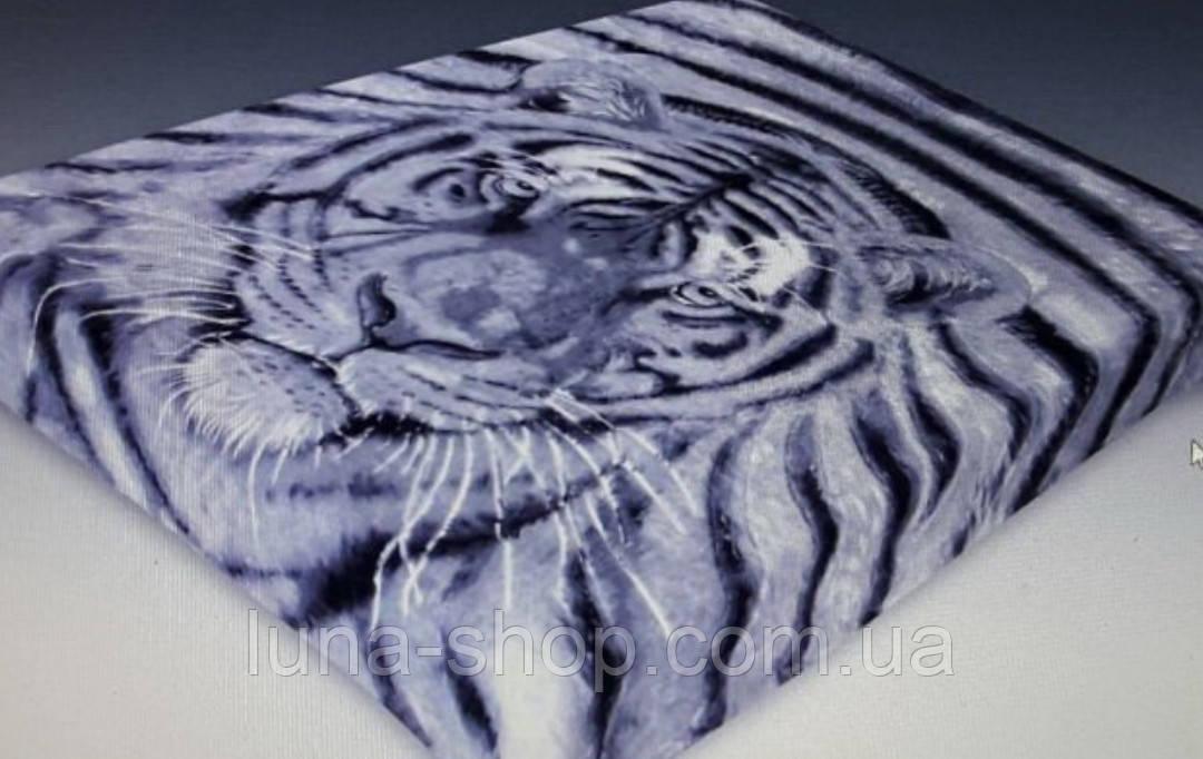 Плед из микрофибры Тигр, 160*210, 200*220, Польша