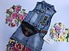 Джинсовое платье для девочек от 2 до 5 лет