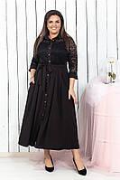 Модное платье-рубашка полностью на пуговицахбатал, фото 1