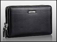 Сумка клатч кошелек мужской LEINASEN модель 2 (черный)