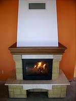 Камины для отопления дровяные, каминные топки в камин Professional (дверца Premium) 18 кВт