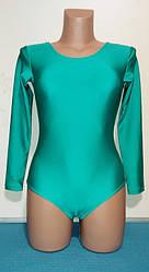 Купальник гимнастический классический  Трикотажное полотно: бифлекс  Цвет: бирюза