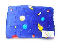 Детский флисовый плед (темно-синий планеты)