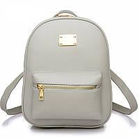 Рюкзак женский для девушек из экокожи (серый)
