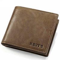 Кошелек портмоне мужской кожаный  (коричневый)