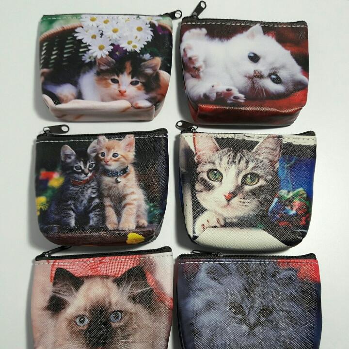 """Дитячий гаманець """"Кошенята"""" для дівчинки шкірозамінник"""