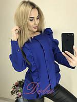 Стильная женская рубашка с воланами , фото 1