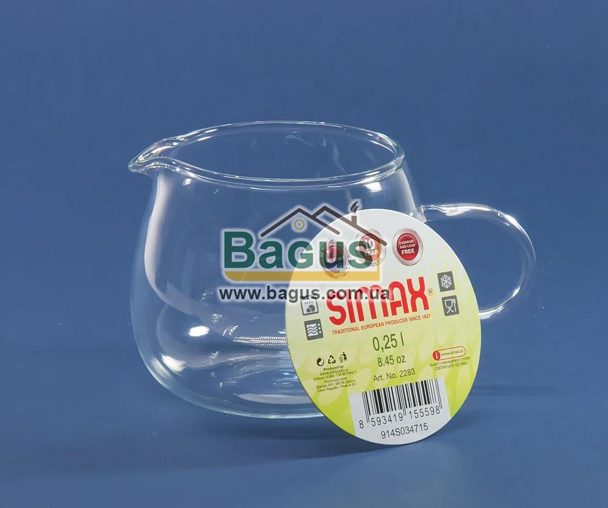 Молочник 250мл стеклянный Simax S-2283
