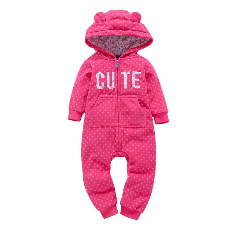 Комбинезон для девочки Горошек - Cute. Детский теплый комбинезон. Зимний комбенезон