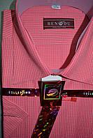 Коралловая мужская рубашка c коротким рукавом BENDU (размеры 40.41.43.45)