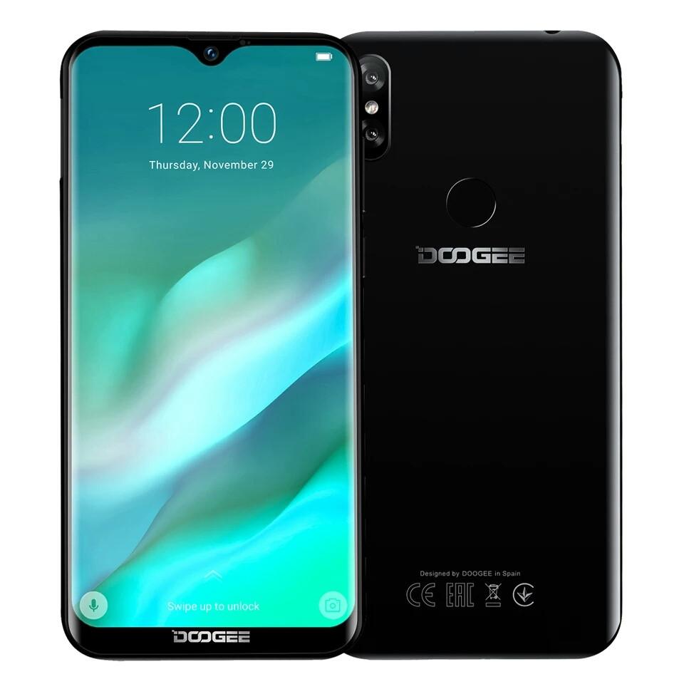"Doogee Y8 4G 6,1"" HD 19:9 Android 9.0 MT6739 4ядра 3GB RAM 16GB Face ID 3400 mAh 8MP Midnight Black"