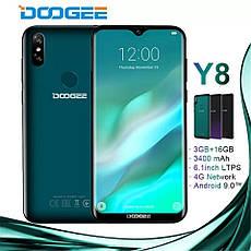 "Doogee Y8 4G 6,1"" HD 19:9 Android 9.0 MT6739 4ядра 3GB RAM 16GB Face ID 3400 mAh 8MP Midnight Black, фото 3"