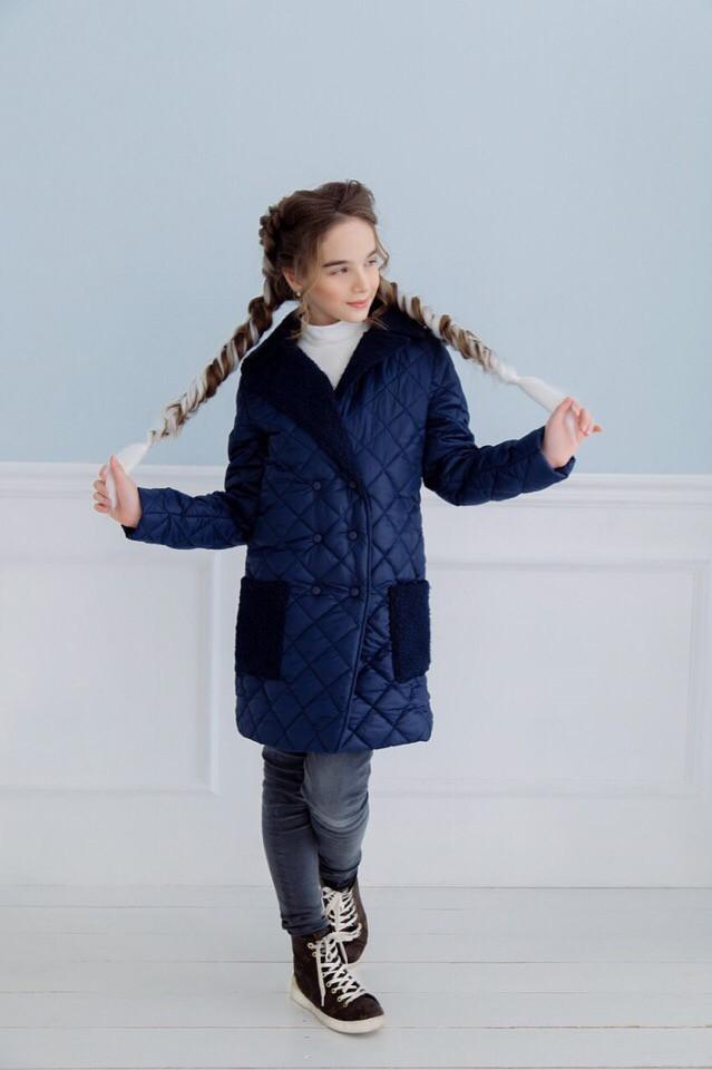 a08c637b2fb Детское пальто демисезонное для девочки синее  продажа