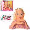 Кукла DEFA 8415 голова для причесок 23 см,плойка, косметика,заколоч, 2 вида, в кор,31,5-27-13,5см