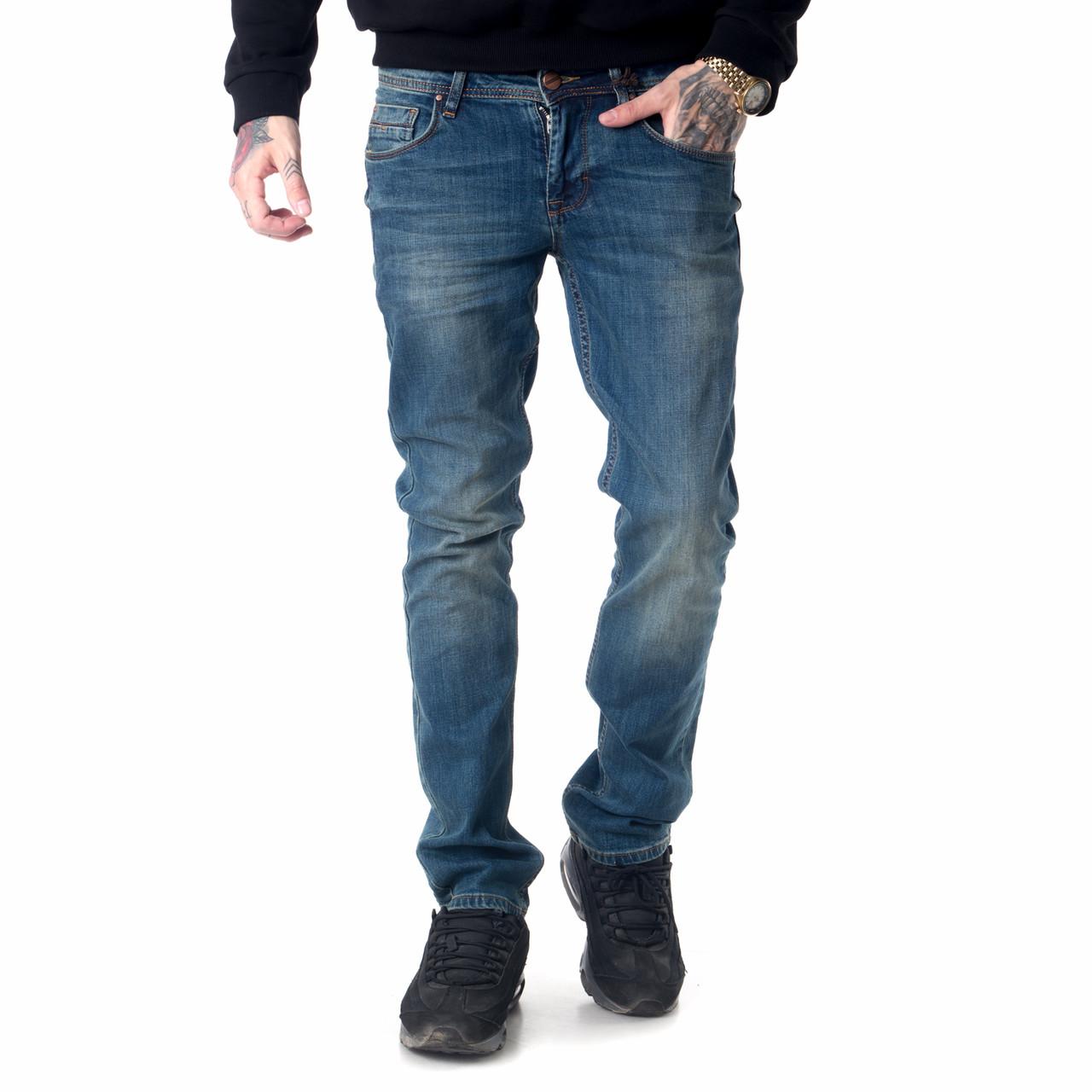 Мужские джинсы Franco Benussi 18-102 тинт синие