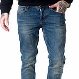 Мужские джинсы Franco Benussi 18-102 тинт синие, фото 4