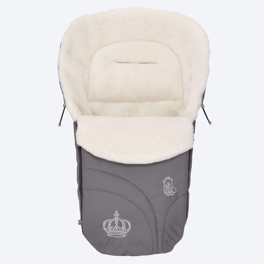 Конверт на овчине Baby Breeze 0356 Серый (Baby Breeze 0356 графит)