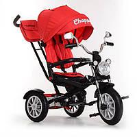 Трехколёсный велосипед Турбо Трайк Turbo Trike M 4056-1 красный. Поворотное сиденье. Музыка, свет.