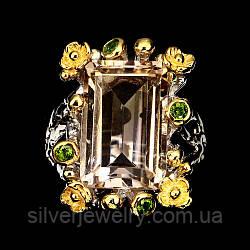 Серебряное кольцо с АМЕТРИНОМ  (натуральный), серебро 925 пр. Размер 17,75