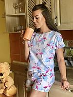 Пижама с шортами для дома и сна