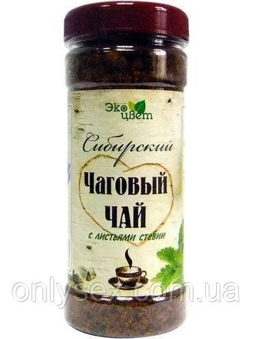 Сибирский чаговый чай с стевией. 90 г.