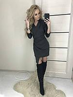 Стильное асимметричное платье-халат