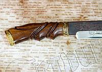 """Нож туристический эксклюзивный Спутник """"Удачной охоты"""" с прочным лезвием и эргономичной рукоятью"""