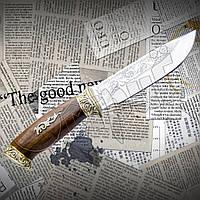 """Нож туристический эксклюзивный Спутник """"Утка"""" с гравировкой на лезвии. Отменное качество"""