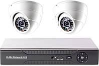 """Комплект """"Установи сам"""" видеонаблюдения - видеорегистратор и 2 купольные камеры CoVi Security FVK-2009 KIT"""