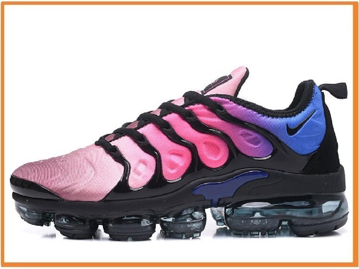 promo code a2b0c 30cf0 Мужские кроссовки Nike Air VaporMax TN Plus 2018 Black Red Blu (найк аир  вапор макс плюс, синие / чрные)
