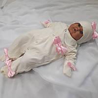 """Человечек для новорожденных """" Бантики розовые"""", фото 1"""