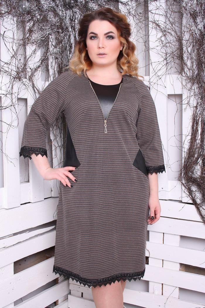5e5b50551490 Платье большого размера Нино Б, (2цв), красивое платье большого размера