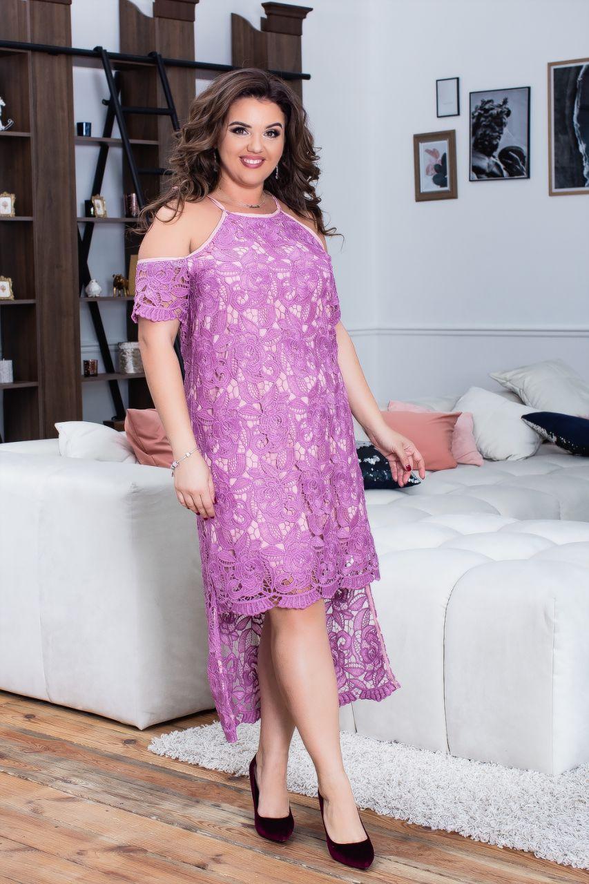 Стильное кружевное платье 03976