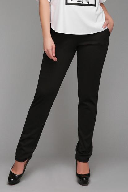 bac3f2f3ccfc Брюки женские большого размера Черные Лампас, классические женские брюки,  черные ...