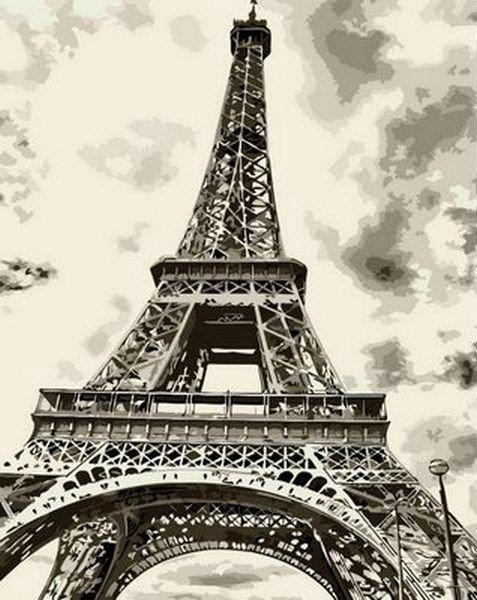 Картина по номерам Эйфелева башня 40 х 50