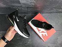 Кроссовки мужские Nike Air Max 270 7360 черные с белым, фото 1