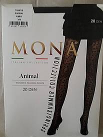 Фантазийные колготки MONA Wild с леопардовым принтом 20 den