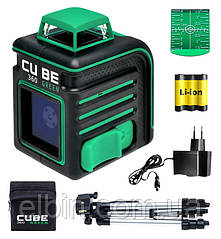 Лазерний рівень ADA CUBE 360 Professional Edition Green (зелений промінь)