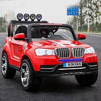 Детский электромобиль джип БМВ BMW M 3118 EBLR-3 красный (черный,белый). Колеса EVA, 4 мотора, свет, MP3.
