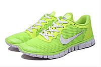 Кроссовки женские Nike Free 3.0 V2 салатовые, фото 1