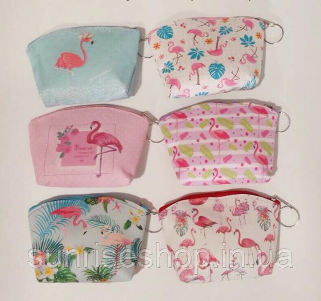 Кошелёк детский  Фламинго для девочки кожзаменитель