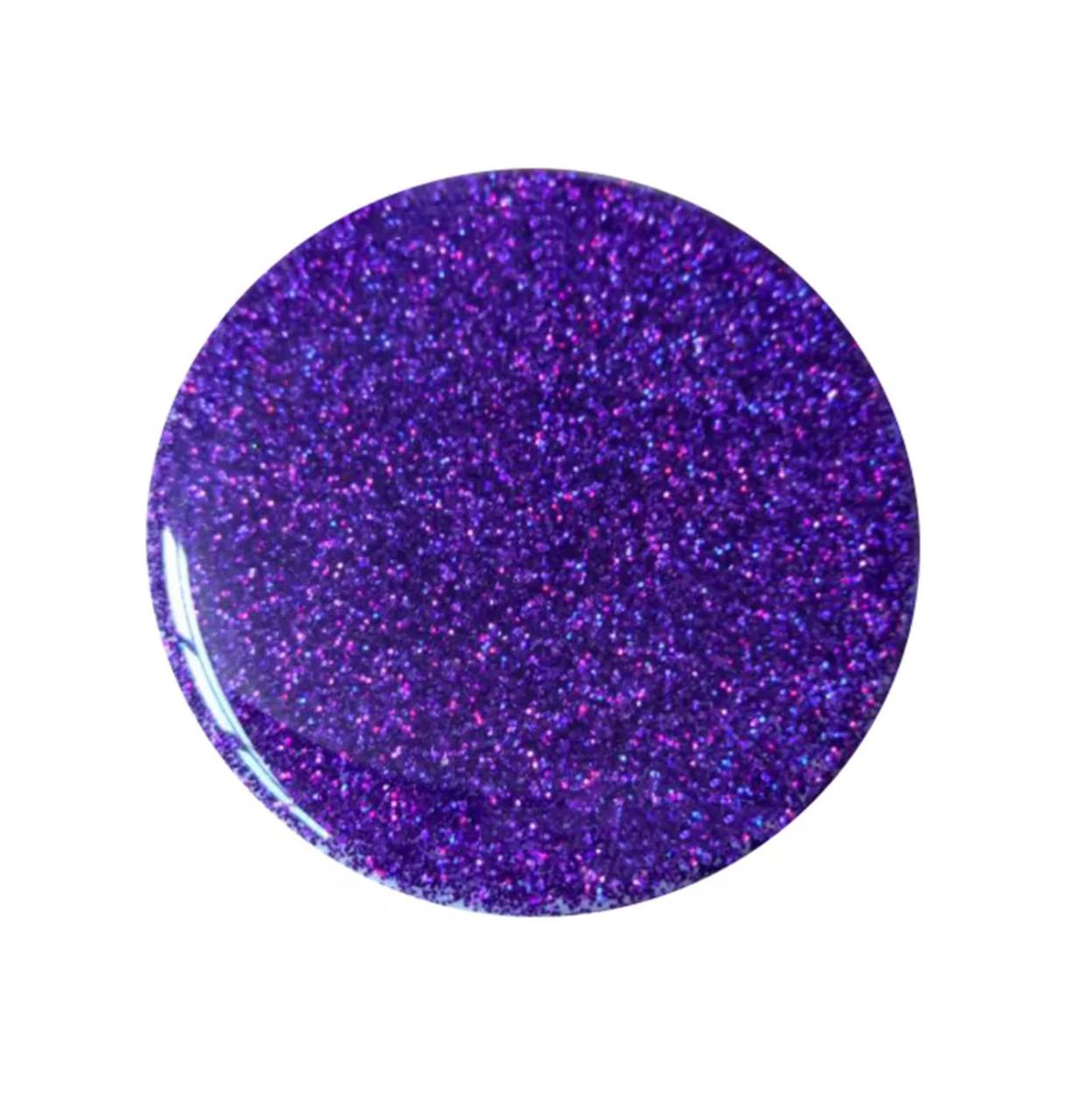 Попсокет для телефона блестящий  «Popsocket party» круглый яркий для девушек (фиолет)