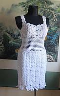Вязаное платье свадебное стрейчевое
