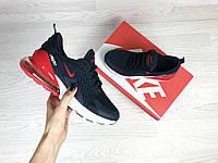 Подростковые кроссовки Nike 7370 темно синие, фото 1