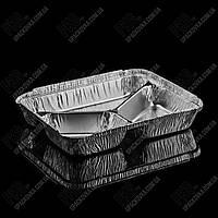 Контейнер з кришкою з харчової алюмінієвої фольги SC 3 L (213*163*30 мм)
