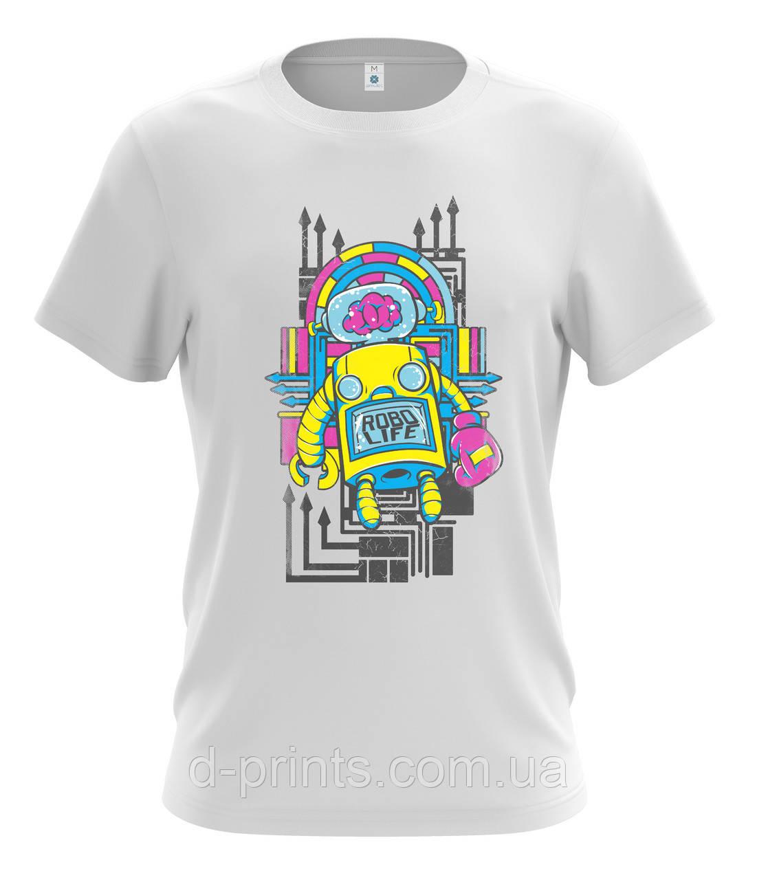 """Футболка мужская с рисунком """"Робот"""" MF-29-24"""