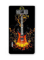 Чехол для LG Optimus L7 P705 (Гитара)